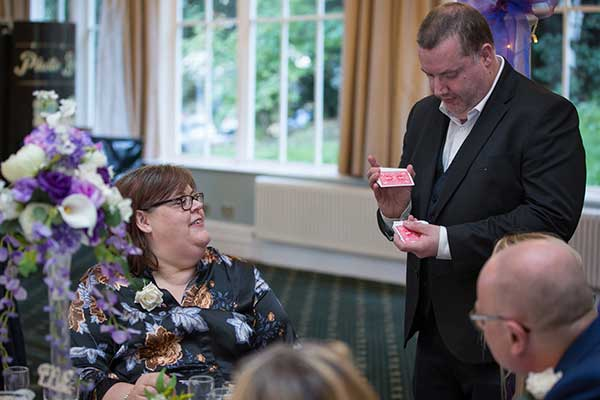 Rob Hutchinson Wedding-Magician North Yorkshire