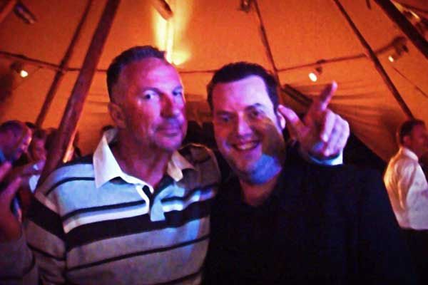 Rob Hutchinson Magician with Ian Botham