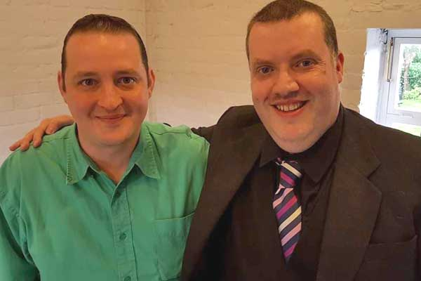 Rob Hutchinson with Barry Dodds Comedian